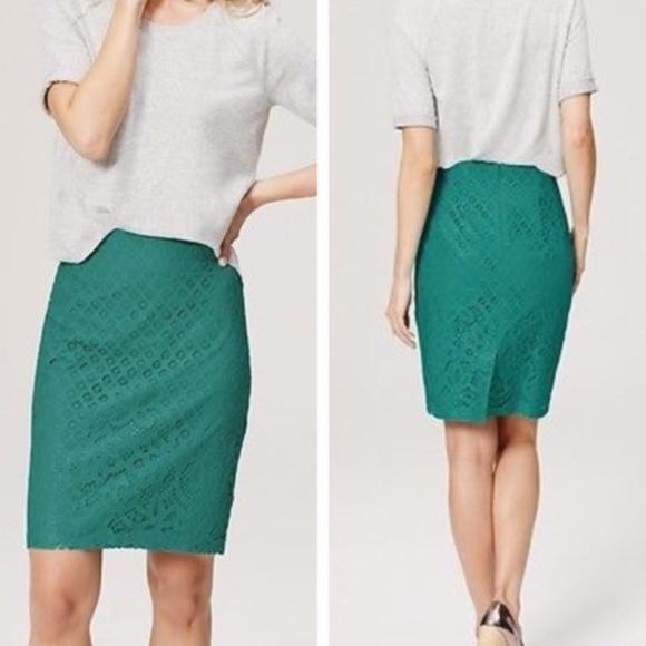 LOFT Dresses & Skirts - LOFT Paradise Lace Pencil Skirt size 10 // I15